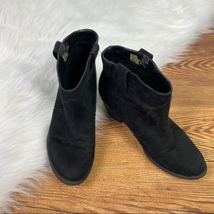 Faded Glory   Black Pointed Toe Booties, Size 6.5
